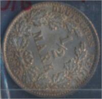 Deutsches Reich Jägernr: 16 1915 G stempelglanz 1/2 Mark Reichsadler (7859372
