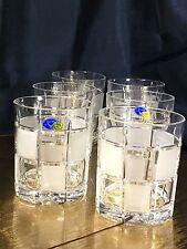 Crystal Glass Set of 6  Rocks Whiskey  Cognac Russian Cut Neman 11 oz Vintage