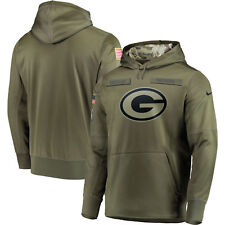 Nike 2018 NFL Salute to Service Green Bay Packers Pullover Hoodie Men's XL