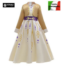 Simile Frozen Anna 2 Vestito Carnevale Bambina Cosplay Costume Dress FROZ009 SD