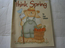 Think Spring Painting Craft Pattern Book Wood Bunny Wreath Carrot Garden Plaque