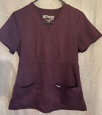Women's Greys Anatomy Scrubs 2 Pieces / Size S/ Color Plum