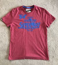 Mens Superdry T-shirt Red Large