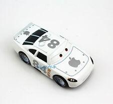 Disney Pixar Diecast Metal NO.84 White Apple icar Racer Cars Kid Toy