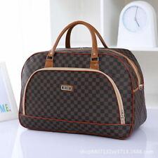 Women's Coffee Travel Luggage Bag Holdall Hand Ladies Weekend Gym Handbag Tot