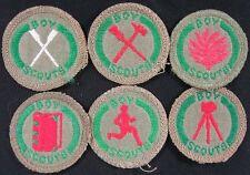Lot of 6 Vintage Patch BSA 1960's Australian Merit Badges With White Backs