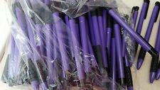 wholesale lot of 200 purple ball point pens.  Black ink.