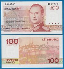 Luxembourg 100 Francs P 58 b (1986-1993) Unc Low Shipping! Combine Free! (P-58b)