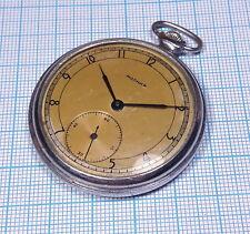 Molnija 2ChZ ChK-6 1-51 15 Jewels Pocket Watch Rare Dial Ussr