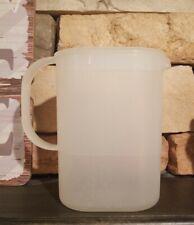 TUPPERWARE Vintage Used Clear Slim Juice Jug 1 QT Pitcher 1529-1 & 1530-1 EUC