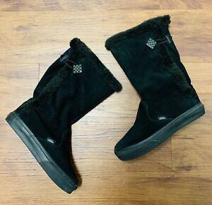 Rare Vans Old Skool Women's Dasan Black Winter 1 Suede Shoes - Snow Boots Size 6