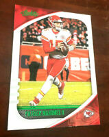 "PATRICK MAHOMES II 2020 Absolute #99 Green Foil Parallel SP KC Chiefs ""RARE"""