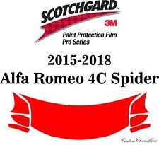 3M Scotchgard Paint Protection Film Pro Series 2015 - 2018 Alfa Romeo 4C Spider