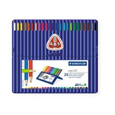 Staedtler Coloured Pencil Ergo Soft Triangular 24 Colours 157 SB24 Drawing Color