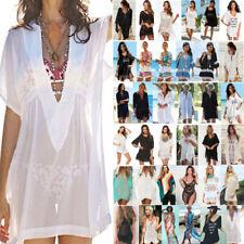 Womens Hollow Beachsuit Bikini Cover Up Dress Summer Beah Holiday Long Tops