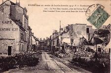 REIMS GUERRE 14-18 WW1 296 la rue dieu-lumière prise de l'arbre vert timbrée