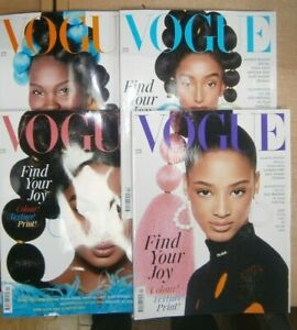 Vogue UK magazine Apr 2021 Find your Joy. Awards-season. 4 covers to collect