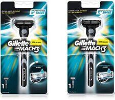 12x Gillette Mach3 Razor with Cartridge blade gilette mach3 smooth shave men UK