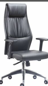Brand New Leather High Back Executive Home Office Chair Adjustable Arms