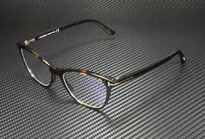 Tom Ford FT5636-B 052 Dark Havana Clear Lens Plastic 52 mm Women's Eyeglasses