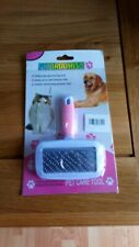 Pet Dog Cat De-shedding Tool Pet Grooming Brush Best Care for Dogs and Cats Pink