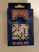 10 Dice Bicycle Die Package Replacement White Board Game Piece Lot Free Shipping