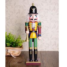 Dipinto a mano 30cm Schiaccianoci in legno Re Soldato Figure Figurine