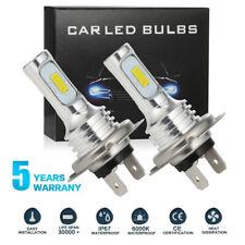 2pcs H7 LED Headlight Bulbs Conversion Kit High Low Beam 80W 4000LM 6000K White