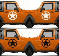 Set of 2 America US U.S. United States Army Star Vinyl Decal Sticker V16