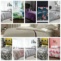 Luxury Printed Designed Poly-cotton Duvet Quilt Cover Set In All Sizes & Design