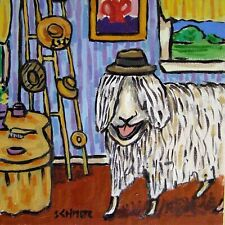 the Sheep favorite hat ram picture ceramic art tile