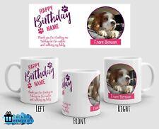Personalised Mug - Birthday Mug - Dog Photo Mug - From the dog - Pink
