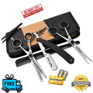 6.5'' PROFESSIONAL BARBER SET HAIR CUTTING THINNING SCISSORS SHEARS HAIRDRESSING