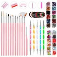 Acrylic Nail-Kit Acrylic Powder Glitter Nail Art Manicure Tool Tips Brush Set UK
