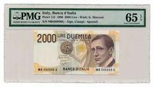 ITALY banknote 2000 LIRE 1990. PMG MS-65 EPQ