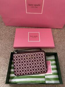 Kate Spade Zip Wristlet Purse Small Wallet Gift Box SPADE LINK NEW