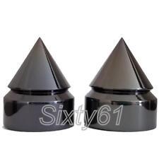 Spike GSXR 600, 750, 1000 Rear Axle Caps Cover Black Chrome Billet Spiked Suzuki