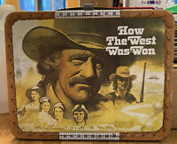 1978 Vintage KST HOW THE WEST WAS WON Metal Lunch Box