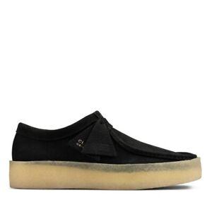 BNWT Men's CLARKS ORIGINALS WALLABEE Cup Black Suede Shoes UK 9.5 G £120
