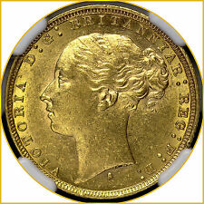 1879 S Young Head, Saint George Reverse, Gold Sovereign Sydney Mint