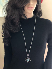 Women's Fashion stainless steel chain necklace with turquoise pendant Made in US