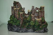 Stunning Detailed Aquarium Rustic Castle Ruin Decoration 29 x 14 x 20 cms