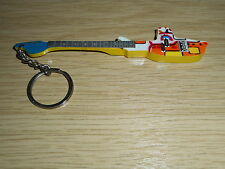The Beatles Yellow Submarine 10cm Wooden Tribute Guitar Key Chain