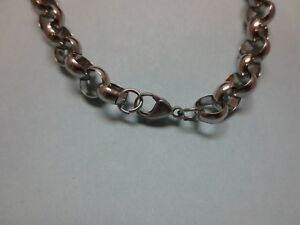 """30""""-48"""" STAINLESS STEEL SILVER 10 MM ROLO CROSS LINK ROPE  WAIST OR BODY CHAIN"""