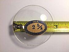 """NOS 2 5/8""""  Replacement Alarm Clock Glass Crystal (Dial D106)"""