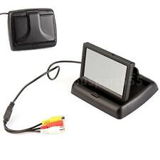 "4.3"" Fold TFT LCD Color Car Reverse Rear View Monitor For Backup Camera DVD Q0M4"