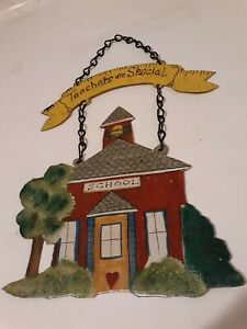 """""""Teachers are Special"""" Novelty HANGING METAL Wall SIGNS/PLAQUES.🏫"""