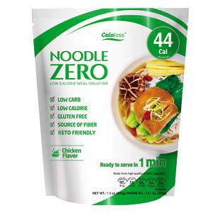 NoodleZero Premium Shirataki Konjac Noodle,Keto Friendly,Low Calorie Chicken 44C