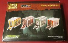 Plast Craft Games MF016 ColorEd Malifaux Circus Wagon Set (4) Miniatures Terrain