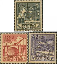 Sowjetische Zone (All.Bes.) 87A-89A (kompl.Ausgabe) gestempelt 1946 Wiederaufbau